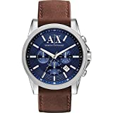 A X Armani Exchange Outer Banks Chronograph Leather Watch