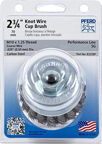 Knot Twist Brush Cup (Pferd 82228P Standard Twist Knot Cup Brush, Carbon Steel Wire, 2-3/4