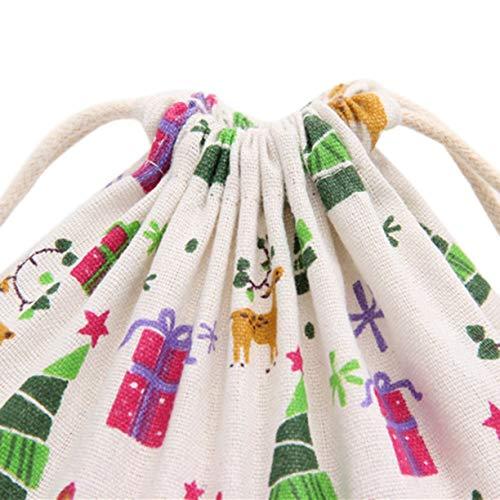 lino de de Misceláneas de algodón de viaje regalo de Bolsa caramelos de cordón bolsas de lindo tamaño lino algodón regalo para de impresa de pequeño de pequeñas Bolsa bolsa Bolsa viajes xqnvT4PP