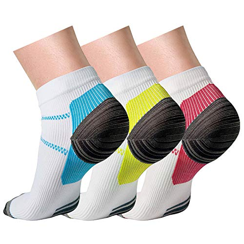 Compression Socks (3 Pairs),15-20 mmhg is BEST Athletic & Medical for Men & Women, Running, Flight, Travel, Nurses - Boost Performance, Blood Circulation & Recovery (3 Pairs,Small/Medium)