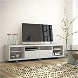 """Bowery Hill 2.2 Series 85"""" TV Stand in White Gloss"""