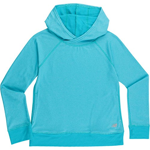 Sea Hood (New Balance Big Girls' Athletic Pullover Top With Hood, Sea/Pisces Cross Dye, 14)
