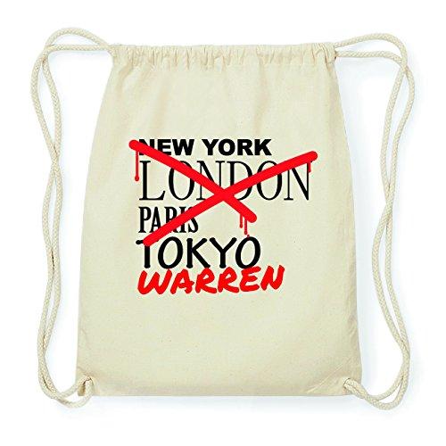 JOllify WARREN Hipster Turnbeutel Tasche Rucksack aus Baumwolle - Farbe: natur Design: Grafitti kjt5hk3k04