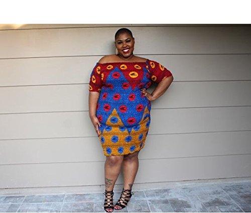 Amazon.com: Nova AfriquX- Womens Mealina African Print PLUS SIZE ...