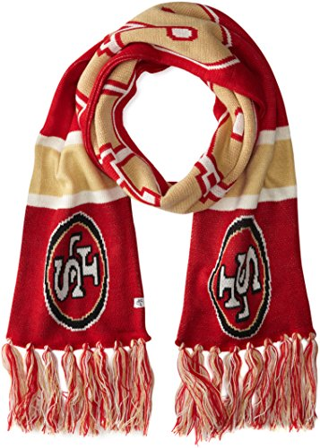 NFL San Francisco 49ers '47 Brand Breakaway Scarf with Tassels, Red, One Size (Niner Scarf)