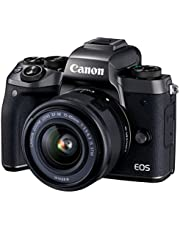 Canon EOS M5 Single Kit with EF-M 15-45mm IS STM Compact System Digital Camera (M5KIS) 3,2 Inch Display,Black (Australian warranty)