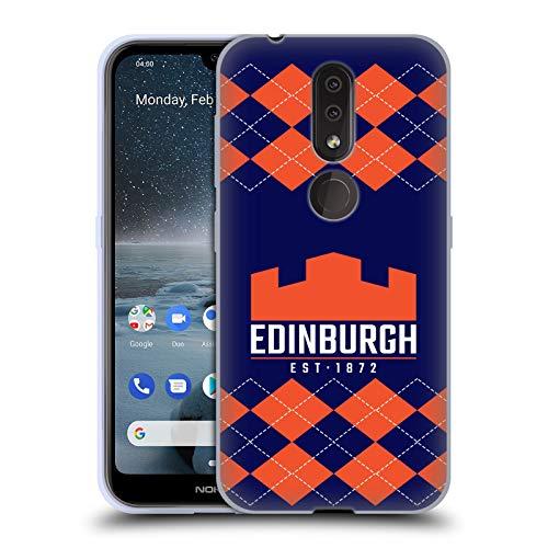 Official Edinburgh Rugby Argyle 2018/19 Logo Soft Gel Case Compatible for Nokia 4.2
