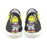D-Story Custom Rainbow Brite Women's Slip-on Canvas Shoes Fashion Sneaker