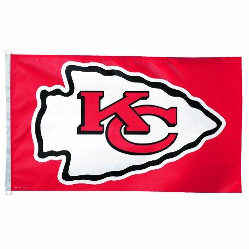 (NFL Kansas City Chiefs 3 by 5-Feet Flag)