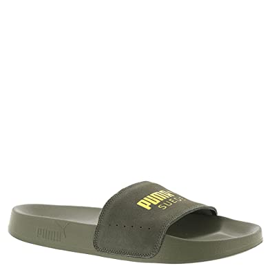 ba9266862e79 ... PUMA Leadcat Suede Women s Sandal 5.5 B(M) US Grey-Gold ...