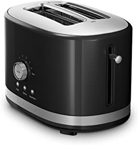 KitchenAid 2-Slice Toaster with High Lift Lever KMT2116OB, Onyx Black (Renewed)