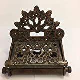 HARDWARE FOR YOU LTD COPPER ON CAST IRON TOILET ROLL WALL MOUNTED HOLDER ANTIQUE REPO VINTAGE