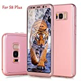 Galaxy S8 Plus Case, S8+, GreenElec 360 Degree Full Body Protective - 2 in 1 Ultra Slim Hard PC Shockproof Anti-scratch with [HD Film Screen Protector] Cover for Samsung Galaxy S8 Plus