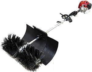 HYYKJ Sweeping Broom Handheld Gasoline Powered Sweeper Cleaning Broom Nylon Brush Cleaner 52CC 2.3HP 1700W 2 Stroke Air Cooled Motor EPA Engine