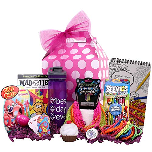Beyond Bookmarks Girl Stuff - Birthday or Special Occasion Gift Basket for Girls and Tweens! -