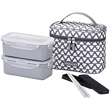 Amazon.com - LocknLock Clover Combo Lunch Box Set with Bag