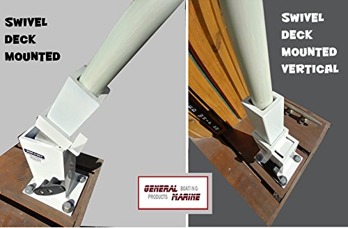 - General Marine Products Mooring Whips Swivels to a Vertical Position Locks in Position Deck Mounted Structural Aluminum 14' 1