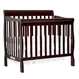 Dark Brown Crib with Changing Table Dream On Me 4 in 1 Aden Convertible Mini Crib, Espresso