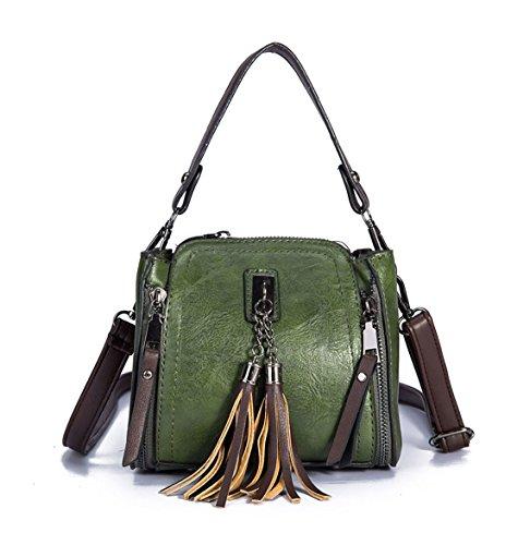 Carteras Negruzco de Shoppers Mujer de Verde y bandolera y hombro bolsos mano clutches Bolsos p0cORcg