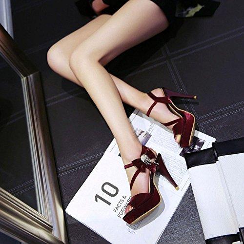 Del Zapatos Del Vestido Mujeres Arco Del Estilete Boda Tobillo Bombas Plataforma De PPFME Banquete Las Las De De Correas De Del Red Peep Del La Del De Extremo Toe v4HIqp