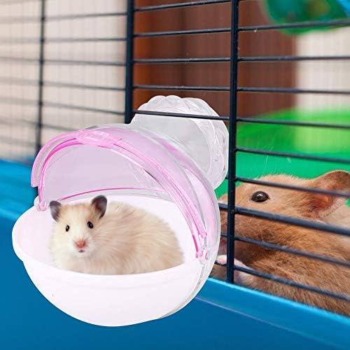 POPETPOP Criceto Bagno Pet Criceto Sabbia Bagno Sauna WC Piccoli Accessori per Animali Domestici per cincill/à Criceto Piccolo Animale Domestico Colore Casuale