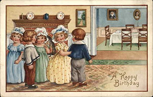 Children Dressed Up for Birthday Original Vintage -