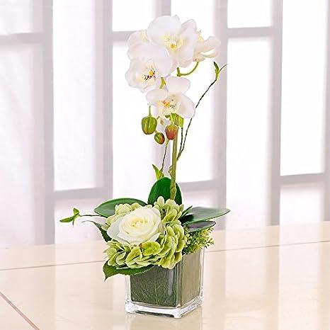 vasi di fiori finti