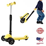 Kids Scooter,Lululy 2018 New Kick Scooter Small Adjustable Height Foldable Pedal Kids Scooter with Flashing LED Light Wheels 3 PU Wheel Scooter for Child Girls Boys Age 3+