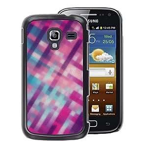 A-type Arte & diseño plástico duro Fundas Cover Cubre Hard Case Cover para Samsung Galaxy Ace 2 (Stripes Blurry Pink Purple Pattern)