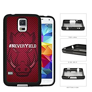 Hashtag Never Yield School Spirit Slogan Chant Samsung Galaxy S5 SM-G900 Rubber Silicone TPU Cell Phone Case