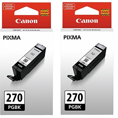 Canon PGI-270 Black Ink Cartridge  - 2 Pack