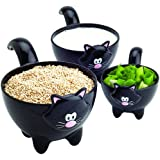 Amazon Com Ceramic Cat Measuring Cups Baking Bowls