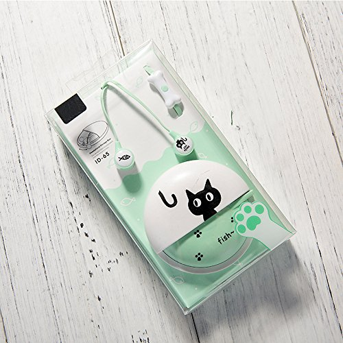 twbbt Colorful Cat Wired Headset Cute In-Ear Universal Earphone for Kids Girls
