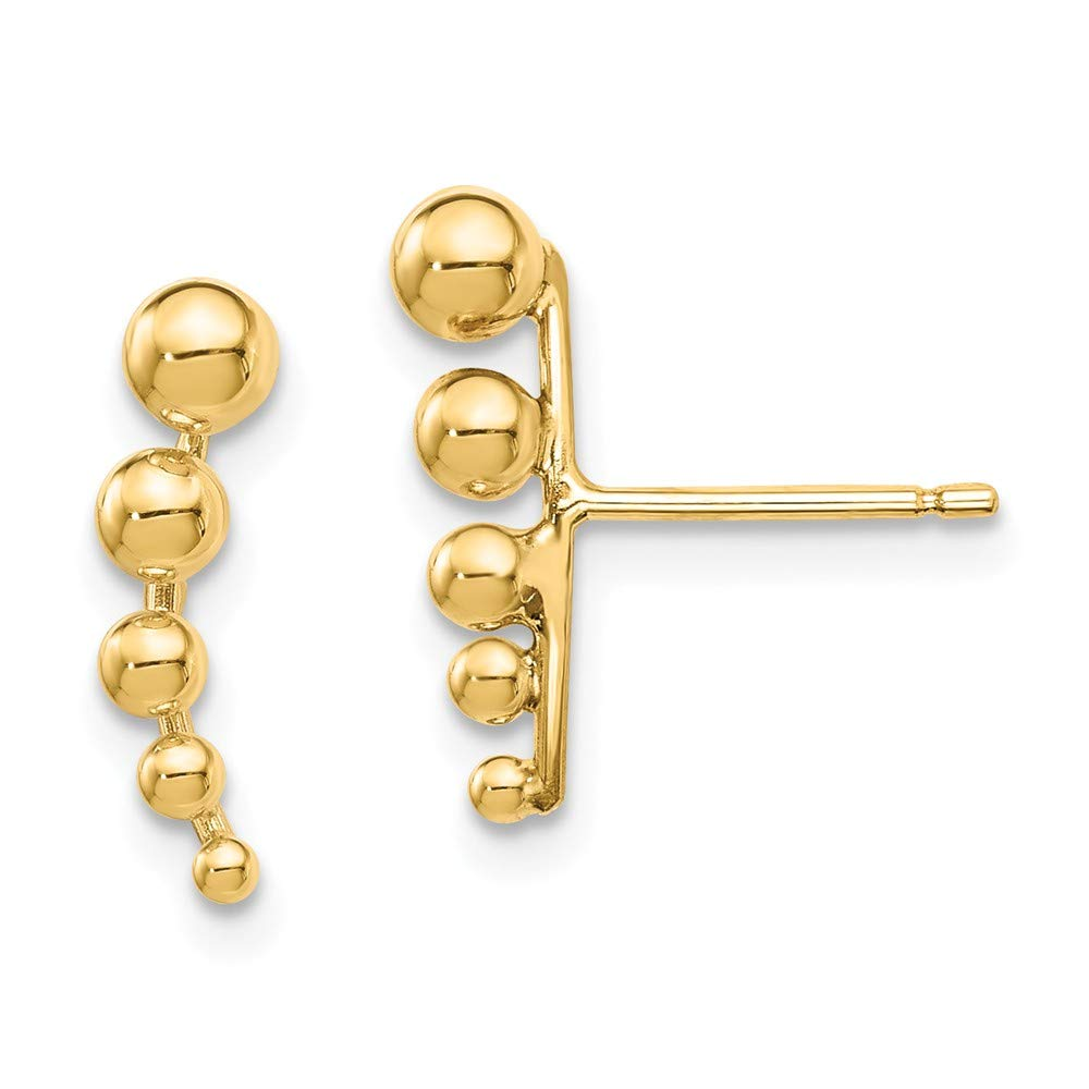 14K Yellow Gold Plated Madi K Graduated Ball Post Earrings