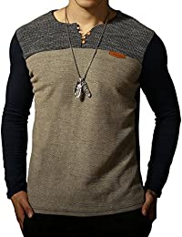 """<span class=""""a-offscreen"""">[Sponsored]</span>Mens Premium Fitted Short-Sleeve Contrast Color Stitching T-Shirt"""