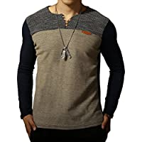 LOGEEYAR Mens Premium Fitted Short-Sleeve Contrast Color Stitching T-Shirt
