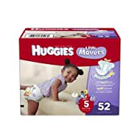 Huggies Little Movers Diapers, Size 5, Big Pack, 52 Count (packaging may vary)