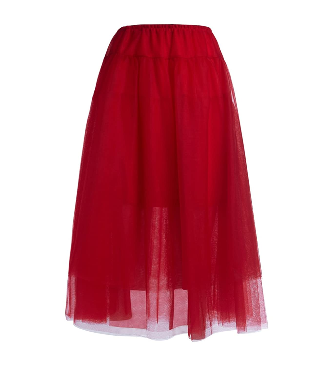 Gonna Twinset in tulle rosso