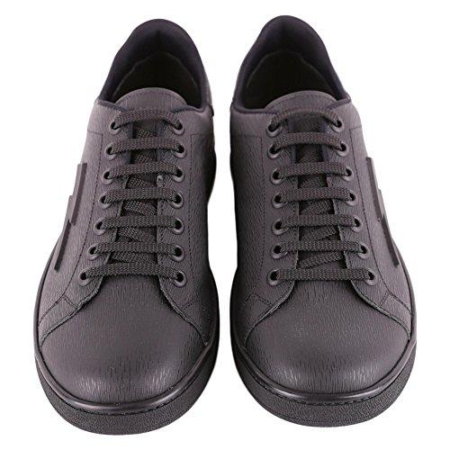 Neil Barrett Herren PBCT234G902201 Schwarz Leder Sneakers