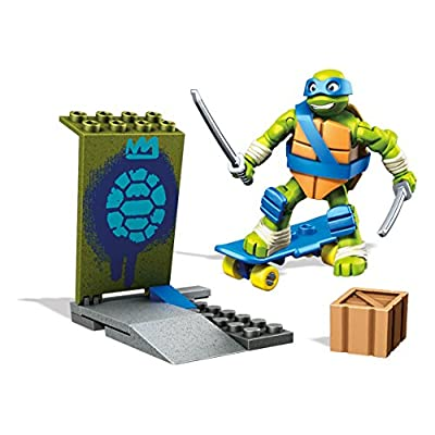 Mega Construx Teenage Mutant Ninja Turtles Leo Skate Training Pack: Toys & Games