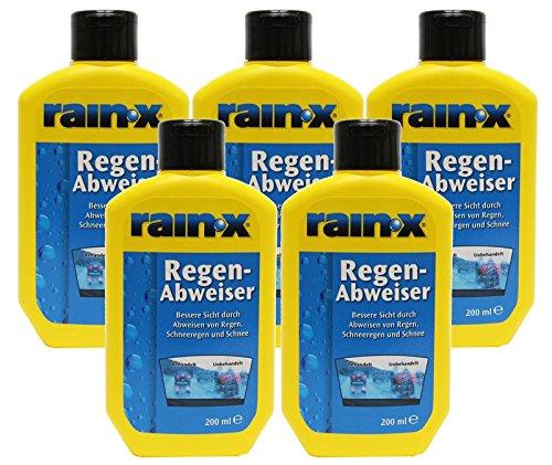 5x Rain-X Regenabweiser 200 ml Scheibenwischer Auto Scheibenreiniger 2222