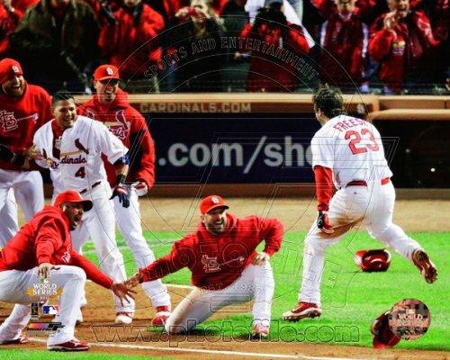 David Freese St. Louis Cardinals 2011 World Series Walk Off Home Run Celebration ()