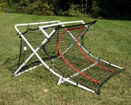 Soccer Trainer Rebound Net Ramp Football Foldable Equipment Goal Shoot Training