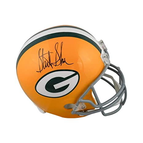 classic fit d3708 fa373 Amazon.com: Sterling Sharpe Autographed Green Bay Packers ...
