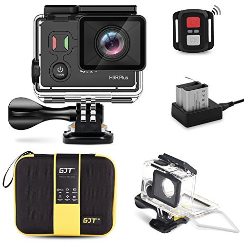 GJT GP1000 WIFI Sports Action Camera 4K 14MP Ultra HD EIS 30M Waterproof Remote Camcorder DV With Panasonic Sensor 170° Wide-Angle Lens, 2 Batteries, Portable Carrying Bag and Mounting Accessories Kit GJT GP1000