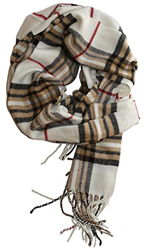 MINAKOLIFE Classic Cashmere Feel Winter Scarf in Rich - Plaid Acrylic