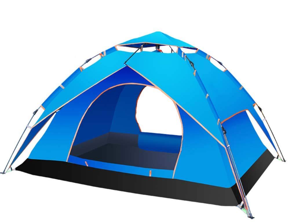 clásico atemporal Yx-outdoor Tienda Plegable para cúpula al al al Aire Libre para 3-4 Personas, Tienda Multifuncional portátil, Carpa Impermeable a Prueba de Viento, Ideal para Acampar,azul  n ° 1 en línea