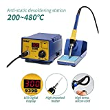 FClearup1991 YiHUA-939D 60W SMD Rework Solder Soldering Station Desoldering w/Iron Stand