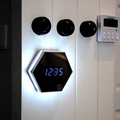 homyl LED Wake Up reloj despertador hexagonal reloj digital ...