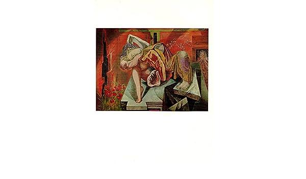"1973 Vintage SURREALISM /""GRADIVA/"" by ANDRE MASSON Color Art Print Lithograph"